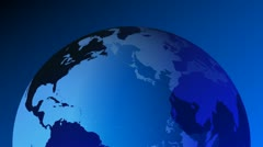 earth 3d blue globe - stock footage