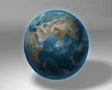 Earth 3d globe rotating Stock Footage
