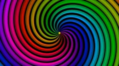 Psycho Spiral Loop (Rainbow) VGA Stock Footage