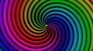Psycho Spiral Loop (Rainbow) VGA Stock Footage