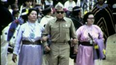 Blind Veteran Indian Soldier Pow Wow Circa 1965 (Vintage Film Home Movie) 1520 Stock Footage