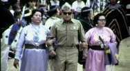 Stock Video Footage of Blind Veteran Indian Soldier Pow Wow Circa 1965 (Vintage Film Home Movie) 1520