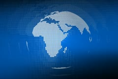 earth globe dots blue (loop) - stock footage