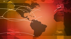 global network, travel, communications - stock footage