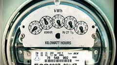Electricity Meter (Time-Lapse) Loop Stock Footage