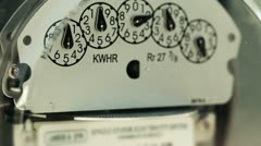 Electricity meter (loopable) Stock Footage