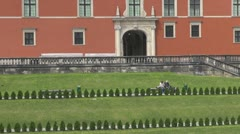 The Royal Castle in Warsaw, Poland - stock footage