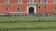 Stock Video Footage of The Royal Castle in Warsaw, Poland