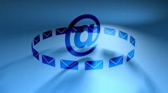 Email graphics @ blue, flatfx hd Stock Footage