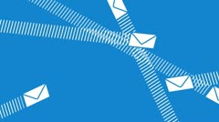 Email envelopes flying around Stock Footage