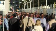 0001 People Walking NYC Slow Motion Stock Footage