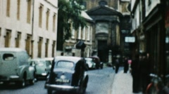 Europe City And Traffic (Old Film - Archival 1960S) Stock Footage