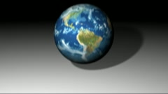 Falling & bouncing earth Stock Footage