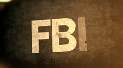 FBI CIA NSA Text Animation Graphic Title Stock Footage