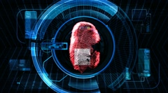 Fingerprint Security Scan Technology Stock Footage