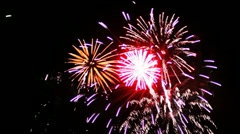 Fireworks - Sharp Vibrant Clean Stock Footage