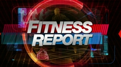 Fitness report - broadcast title graphic Stock Footage
