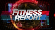 Stock Video Footage of fitness report - broadcast title graphic
