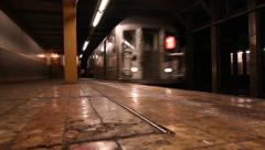NYC Subway 1 Train Stock Footage