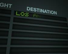 Airport flight information board Stock Footage