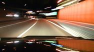 Freeway drive night timelapse Stock Footage