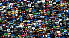 Video wall montage (loop) Stock Footage