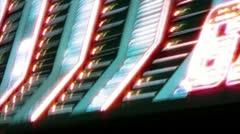 las vegas casino neon sign with flashing light bulbs - stock footage