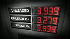 gas pump prices (digital animation) - stock footage
