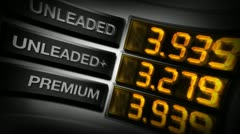 Stock Video Footage of gas pump prices (digital animation)