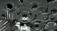 gears turning (3d animation) - stock footage