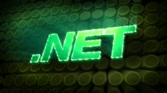 .Net Glitter Sparkle Text Stock Footage