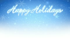 Happy Holidays & Snowflakes (Loop) Stock Footage