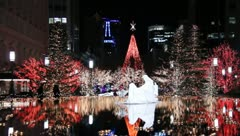 Christmas Lights in the City at Temple Square 9 Stock Footage