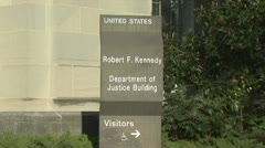 Department of Justice Stock Footage