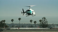 Helicopter Taking Off From Helipad - stock footage