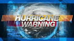 hurricane warning - title graphics - stock footage
