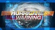 Stock Video Footage of hurricane warning - title graphics