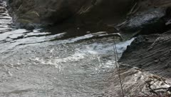 Stock Video Footage of flowing stream