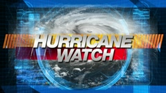 Hurricane Watch - Title Graphics Stock Footage