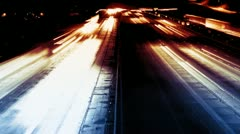 Freeway traffic night time-lapse Stock Footage