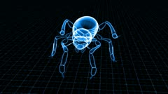 Insect bug x-ray scan technology Stock Footage