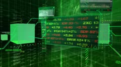 Stock market tickers - interface technical data Stock Footage