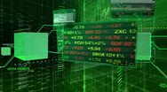 Stock Video Footage of stock market tickers - interface technical data