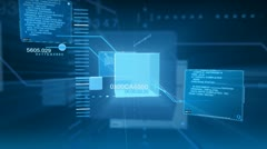 Digital Data Code Network Interface Technology Stock Footage