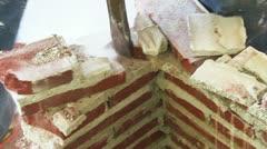 Jackhammer brick demolition Stock Footage