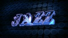 Jazz - glitter sparkle text Stock Footage