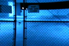 Keep this gate closed Stock Footage