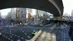 Shibuya station and traffic in Tokyo time lapse Stock Footage