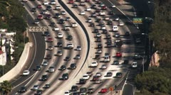 Los Angeles 101 Freeway Traffic (HD) Stock Footage