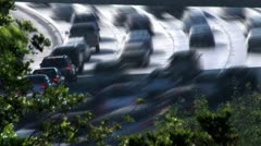 Time-lapse interstate 5 freeway traffic hd Stock Footage
